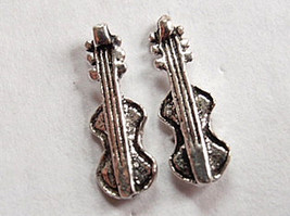 6-String Guitar Stud Earrings 925 Sterling Silver Corona Sun Jewelry gui... - $3.47