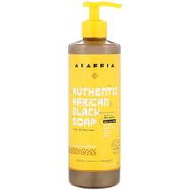 Alaffia, Authentic African Black Soap, Vanilla Almond, 16 fl oz (476 ml) - $11.99