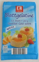 KAUFLAND Blatt Gelatine -Gelatin Leaves - Pack o 20 -Made in Germany- - $6.48