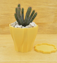 Large succulent planter/pastel orange/3D printed planter/Saucer and drainage/Pot - $21.00