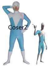 Superhero Frozone Costume Halloween Party Cosplay Zentai Suit - £45.34 GBP
