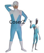 Superhero Frozone Costume Halloween Party Cosplay Zentai Suit - $59.00