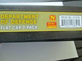 Micro-Trains # 99302180 Department of Defense Flat Car 2 Pack w/Humvees N-Scale image 9