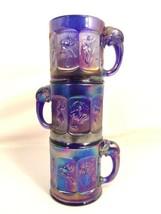 Imperial Glass Vintage Nursery Rhymes Carnival Elephant Handle Mug Lot C... - $64.34