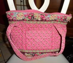 Vera Bradley large Villager tote in Pink Pansy pattern - $35.00