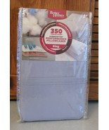 Better Homes & Gardens Performance set 2 King Size Pillowcases Blue Chal... - $12.86
