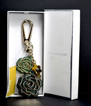 Michael Kors Conexión en Cascada Verde Flores Mujer Cuero Y Metal Llaver... - $47.04