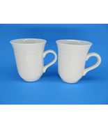 "2 French Countryside Tall White Coffee Mugs 4"" Set of 2  - $12.60"