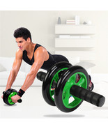 Ab Wheel Roller Abdominal Muscle exercise, Double Fitness Workout Gym Eq... - $26.96