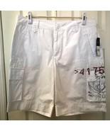 American Living Women's White Cargo Shorts NWT Size 12 100% Cotton - $19.98