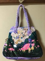 Franchelippee Alice in Wonderland Hand tote bag purple disney Polyester ... - $187.11