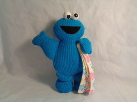 """1998 Applause Jim Henson Cookie Monster Woven Fabric Rattle Toy 7"""" - $4.70"""