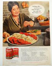 Vtg 1962 Hunt's Mamma Mia tomato paste retro advertisement print ad art - $11.38