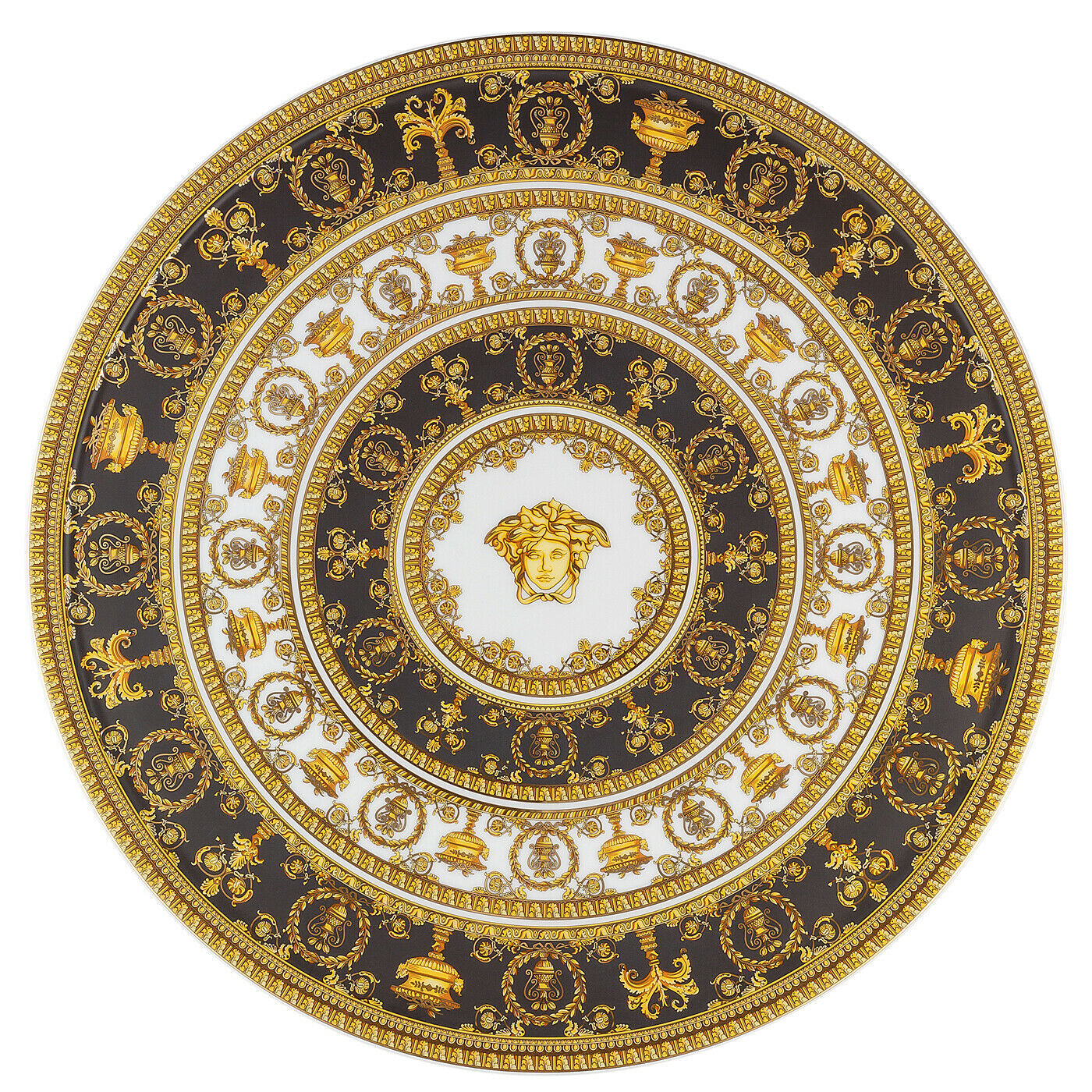 Primary image for Versace I Love Baroque Tartplate on Foot Porcelain Made in Italy