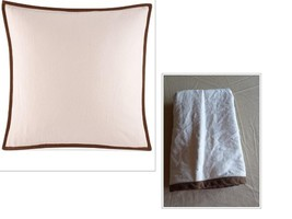 Ralph Lauren Collection Bellosguardo Solid European Sham Cream Cotton/Linen - $25.39