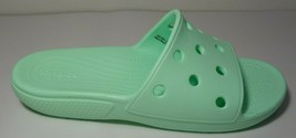 Crocs Size 7 CLASSIC SLIDE Green Neo Mint Sandals New Women's Shoes - $64.35