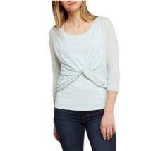 Nic And Zoe Womens Light Blue Four Way Lightweight Cardigan Sweater Top ... - $28.02
