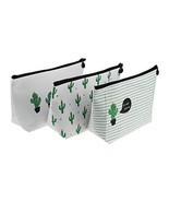 LJY 3 Pieces Assorted Large Capacity Pen Holders Pastoral Floral Cactus ... - €11,77 EUR