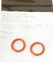 LOT OF 2 NEW BAUMANN 87706-688 O-RINGS -210 ID=0.734 W=0.139 IN. 87706688 image 2