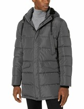 M32 NWT CALVIN KLEIN Sherpa Hooded Iron Grey Puffer Jacket MEN'S S Small - $197.97