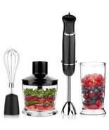 Smart Powerful 4-in-1 Immersion Hand Blender Set Variable 6 Speed Control - $68.34 CAD