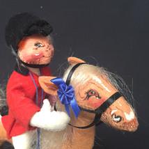 Vintage Annalee Equestrian English Horse Rider Blue Ribbon 1992 - $108.90