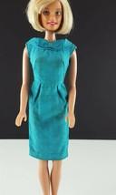 Barbie PAK Turquoise Sheath Dress 1962 Silk Shantung Original Clothing - $29.69