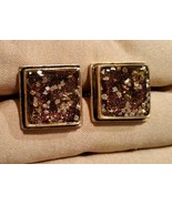 Mens Gift Item Custom Hand Crafted GOLD MICA GOLD TONE Cufflinks Cuff Links - $34.60