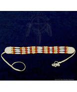 Bone Hairpipe w/ Amber & Coral Color Beads Choker - $24.95