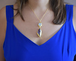 Gold Amethyst Necklace, Amethyst And Pearl Necklace, Amethyst Jewelry, February  - $46.19 CAD