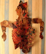 19th century original shadow puppet indian leather collectible marionett... - $508.68