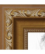 ArtToFrames 10x20 inch Gold with beads Wood Picture Frame, WOMD10051-10x20 - $34.21