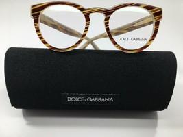 New Dolce & Gabbana DG3251 3052 Burgundy & Mustard Eyeglasses 47mm w/ Case - $79.17