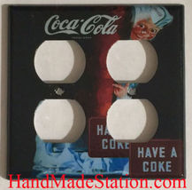 Have a Coke Coca-Cola Light Switch Outlet wall Cover Plate Home Decor image 4