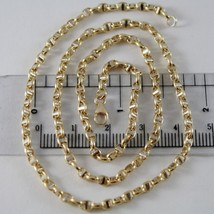 18K YELLOW WHITE GOLD CHAIN SAILOR'S NAVY LINK 3 MM, 23.60 INCHES MADE IN ITALY image 1