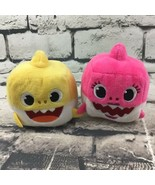 WowWee Pinkfong Baby Shark Official Song Cubes Lot Of 2 Plush Mommy Baby... - $11.88