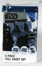 Jay Franco & Sons Disney Star Wars Microfiber Polyester 4 Piece Full Sheet Set - $37.99
