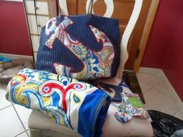 Vera Bradley Marina Paisley beach set - tote, towel, cosmetic, keychain, ID - $128.00