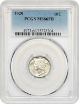 1929 10c PCGS MS66 FB - Mercury Dime - $373.45