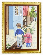 Vintage Professionally Framed Needlepoint Art  - $195.00