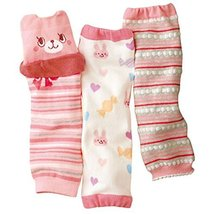 Trendy PINK Cartoon Baby Girl Leg Wamers Comfy Leg Guards for Height 27-39''