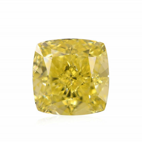Primary image for 0.80 Carat Fancy Intense Yellow Loose Diamond Natural Color Cushion Cut GIA Cert