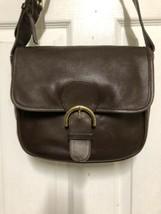 vintage COACH 4164 Tan Brown Leather Buckle Flap Shoulder Bag E7D - 4164 - $46.39