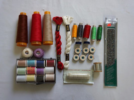 Lot Thread Talon Polyester Floss Mettler Metrosene Metallic Assorted - $20.00
