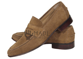 Handmade Men's Brown Suede Leather Boots Dress Leather Loafer Shoes - $159.99+