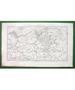 1859 ANTIQUE MAP - Prussia Northern Poland & Eastern Germany - $16.20