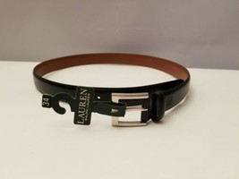 Lauren Ralph Lauren Mens Step Down Buckle Belt Black 34 - $32.66