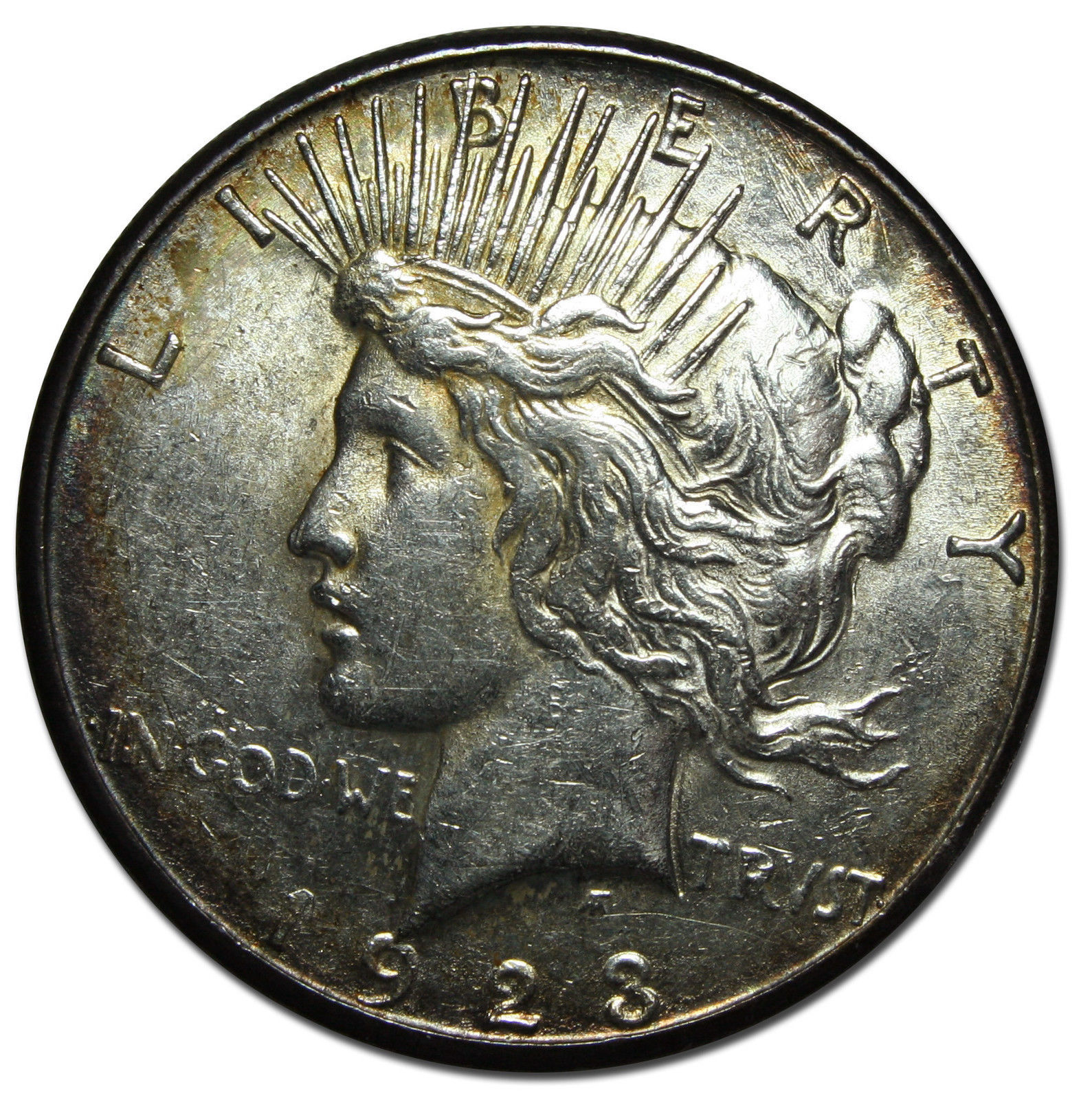 1923S Peace Silver Dollar Coin - Lot # MZ 3431