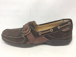 Sperry Top-Sider Brown Suede Leather Strap Moc Toe Boat Shoes Women's si... - $30.69