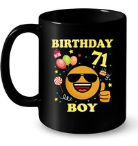 Cute Emoji 71 Years Old Ceramic Mug 71st Birthday Boy Gifts - $13.99+